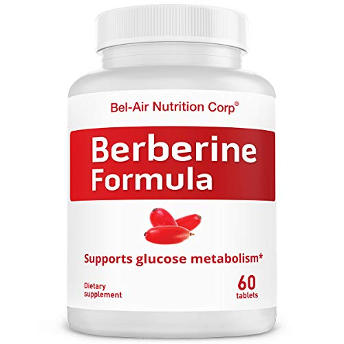 Bel-Air Berberine Formula: 1200 mg with Herbal Booster. Best Natural Berberine Supplement for Glucose (60 Tablets Sampler)