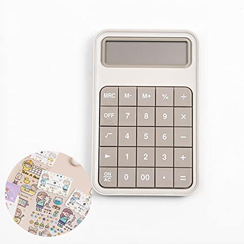 BENO Calculadora Portátil Oficina De Escritorio De Escritorio De 12 Dígitos Calculadora De Funciones Estándar (Incluye Un Stickerx1) calculadora portatil (Color : Grey)