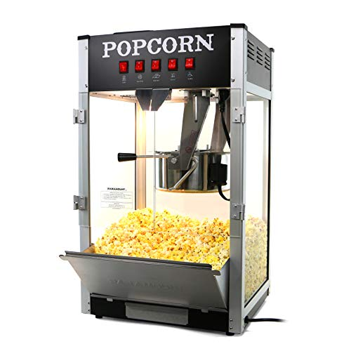 Paramount 16oz Popcorn Maker Machine - New 16 oz Hot Oil Commercial Popper [Color: Black]