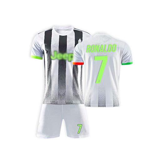 Cristiano Ronaldo DOS Santos Aveiro # 7 Fußball Trikot Set 2019-2020 Heim Kinder Fußball Trikot Mit Shorts Kindergrößen Team Training Wettbewerb Sportbekleidung,Grün,28