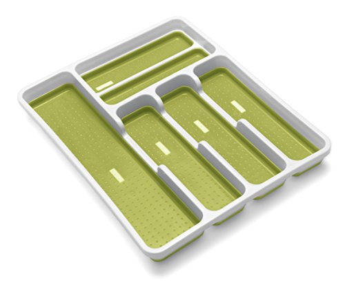 Addis Premium Anti-Slip Soft Base Drawer Cutlery Organiser Tray, 6...
