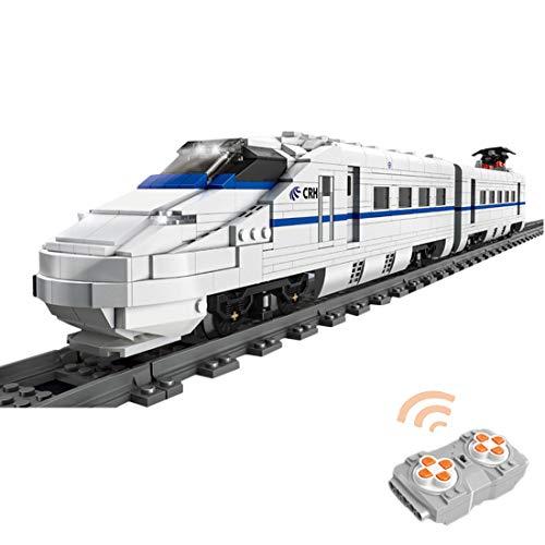 Tren de construcción de tren de ingeniería con pasadores, 1808 piezas, teledirigido a distancia, locomotora de vapor con motor y luz, bloques de construcción MOC, compatible con la técnica Lego