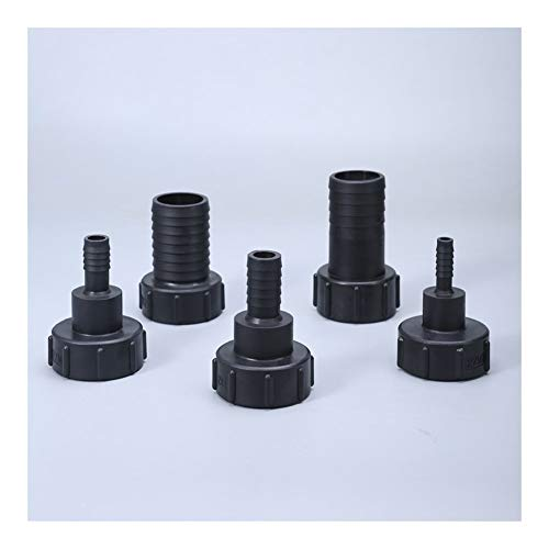 MYBHD S60X6 roscado a 1/2 '3/4' 1' 2 pulgadas manguera negro accesorios de tubería de jardín accesorios de jardín césped grifo (color: 2)