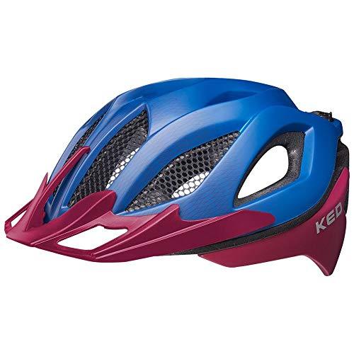 KED Spiri Two L Blue Purple - 55-61 cm - inkl. RennMaxe Sicherheitsband - Fahrradhelm Skaterhelm MTB BMX Erwachsene Jugendliche