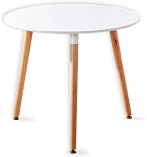 Probasto カフェテーブル イームズ ダイニングテーブル 食卓 直径約80×高さ約75cm 円形丸型 カフェ テーブル 北欧 無垢 木製