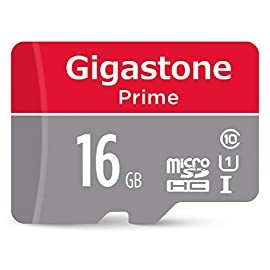 Gigastone 16GB Micro SD Card, Camera Plus 85MB/s, Full HD Video, U1 C10 Class 10 Micro SDHC UHS-I Memory Card, with… 3 Capture, cherish and well-store all the best moments  Read/Write up to 90/20 MB/s. Full HD video displaying/recording  Storage for Laptop, Tablet, PC, Smartphones, Camera, Dashcam, e-Reader, Drone. Files, Videos, Music. Compatible with Nintendo Switch GoPro Andoroid Samsung Canon Nikon