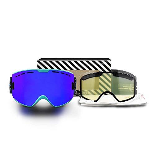 SKI Goggles Mannen Vrouwen Sneeuwbril Dubbele Lagen Anti Mist UV400 Beschermende Skiën Bril Snowboard Goggles