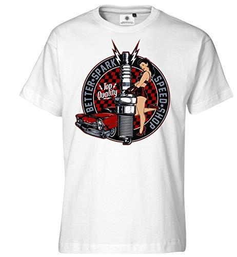 Customized by S.O.S Herren T-Shirt Better Spark (XL, Weiß)