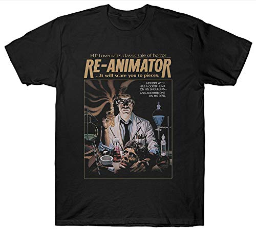 Re-Animator T Shirt Fantasy Horror 1970'S Film Movie Hp Lovecraft
