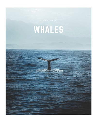 Whales: A Decorative Book │ Perfect for Stacking on Coffee Tables & Bookshelves │ Customized Interior Design & Home Decor (Ocean Life Book Series)