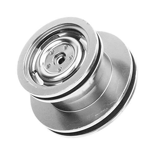 RC Car Wheel Frame Rim Precisão CNC de usinagem RC Upgrade Accessories Parts RC Car Wheel Frame Rim, RC Car Wheel Rim, Durable RC Vehicle for RC(Silver MN-027S)