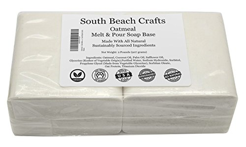 Oatmeal - 2 Lbs Melt and Pour Soap Base - South Beach Crafts