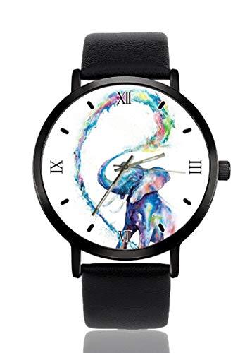 Elefante orologio da polso per uomo donna casual cinturino in pelle analogico al quarzo unisex moda orologi da polso