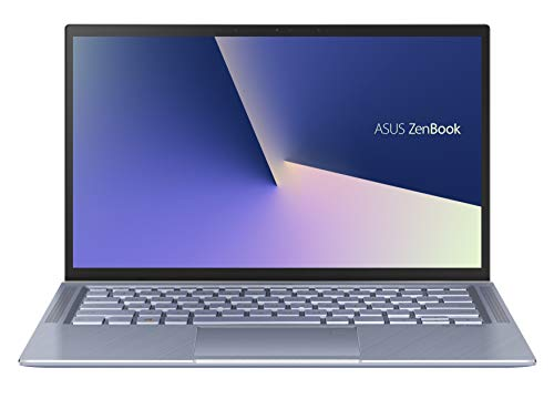 ASUS Zenbook 14 UM431DA-AM007T, Notebook con Monitor 14' FHD Anti-Glare, AMD Ryzen 5-3500U, RAM 8GB, Grafica AMD Radeon Vega 8, 512GB SSD PCIE 3.0, Windows 10 Home, Celeste Argento, Sleeve incluso