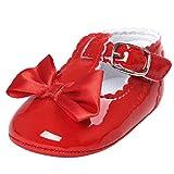 Zapatos Bebé Niña 2019 SHOBDW Zapatos De Princesa Dulce Pisos Zapatos Cuna Suela Suave Antideslizante Zapatillas Zapatos Lindos del Bowknot Primeros Pasos Zapatos Bebé Recién Nacida(Rojo,0~6)