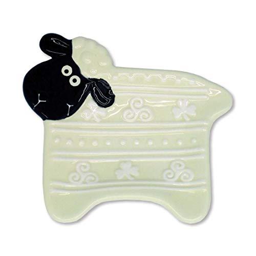 Royal Tara Clara Wolly WareTeebeutelhalter Platte für Teebeutel mit Handbemaltem Schaf Design | Irish Home Einweihungsparty Geschenke Souvenirs Dekor Dekoration Zubehör