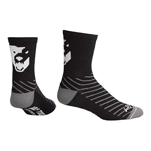 Wolf Tight: Sock Guy Wool Components Calzini - L/XL - Nero/Bianco - Nero/Bianco - L/XL