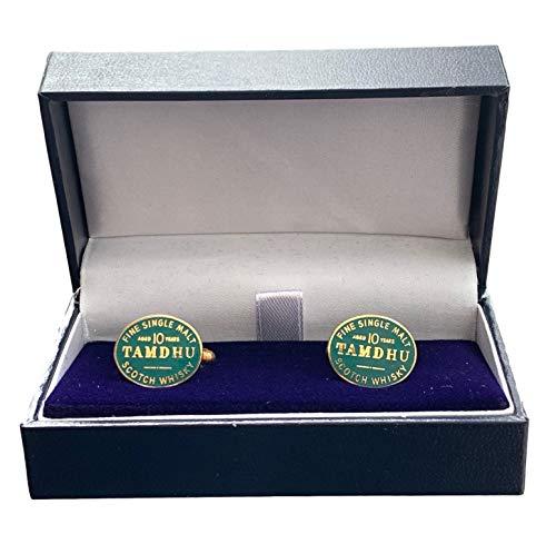 personalisierbar 'TAMDHU Malt Scotch Whisky Emaille CRESTED Manschettenknöpfe (N95)