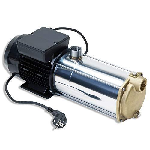 AMUR HAUSWASSERWERK HAUSWASSERAUTOMAT SELBSTANSAUGENDE KREISELPUMPE PUMPE INNO-TEC 1250 - LEISE ENERGIESPARSAME Edelstahl-Pumpe für Klarwasser zur Hauswasser