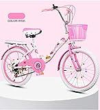 Fahrradausrüstung Klappräder Kinderfahrräder Mountainbikes Rennräder Fahrräder Schön Kinderwagen (20 inchesA,Pink)