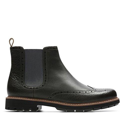Clarks Batcombe Top, Botas Chelsea para Hombre, Gris (Taupe Leather), 44.5 EU