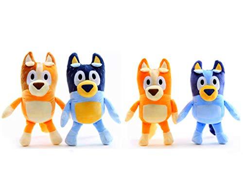 Bluey Family Plush Toys -Cartoon Stuffed Plush- 11' Tall Plush- Soft and Cuddly Including Bluey, Bingo, Mum & Dad