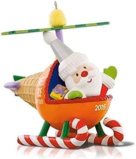 Hallmark QX9077 Santa's Sweet Ride Helicopter Ornament by Hallmark