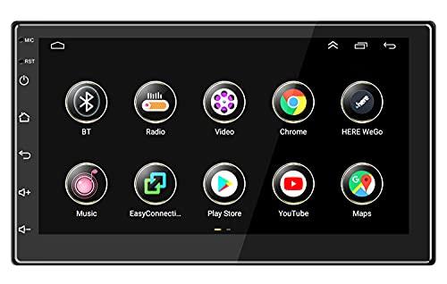 ANKEWAY 7 Pulgadas [2G+16G] Android Radio de Coche 2 DIN con RDS+FM+Navegación GPS HiFi+WiFi+Bluetooth, 1080P HD Pantalla Táctil Sistema Multimedia Digital de Internet para Coche (2 DIN DC-12V)