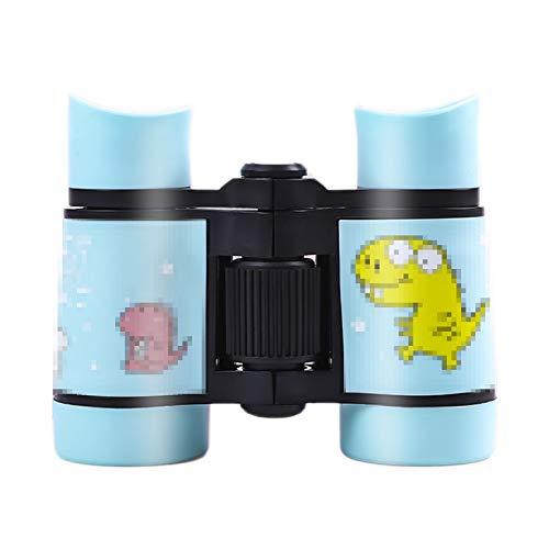 TWW Los telescopios para niños Son pequeños y portátiles, Juguetes para niños, Mini binoculares de Alta definición y Alta Potencia, visores para Exteriores en Miniatura para niñas,Azul