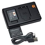 DSTE 2PCS EN-EL19(1300mAh/3.7V) Batería Cargador Compatible para Nikon Coolpix S100,S2600,S2700,S2750,S3100,S3200,S3300,S3400,S3500,S4100,S4150,S4200,S4300,S4400,S5200,S6400,S6500,S6600 Digital Cámara