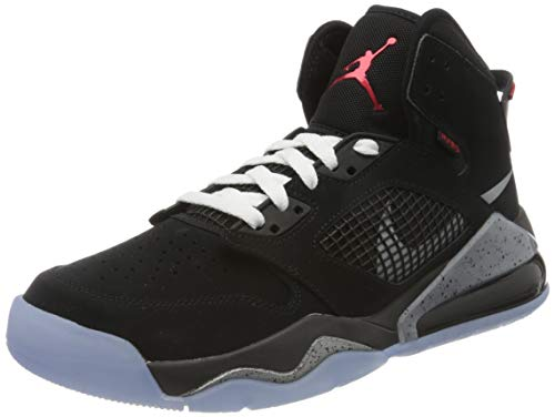Nike Herren Jordan Mars 270 Basketballschuh, Black/Reflect Silver-fire red-White, 44 EU
