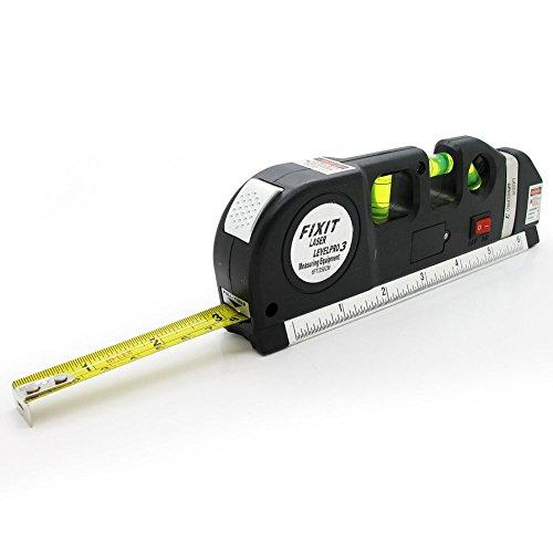 Dengzhu multiuso livello del laser metro a nastro righello pavimenti Level aligner orizzontale verticale misura standard metrico righello (2,4m/2.5m)