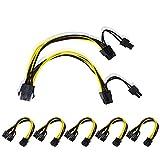Ubit GPU PCIE de 8 Pines a Doble Cable de Alimentación Divisor de 8 Pines (6 + 2), Cable de Extensión de Alimentación Divisor PCI-e Express VGA, 12,5 Pulgadas (6 Piezas)