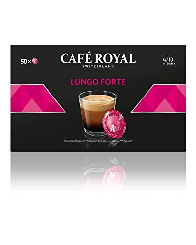 Café Royal Lungo Forte 50 Nespresso®* Pro kompatible Kapseln (Intensität 4/10) 1er Pack (1 x 50 Pads)