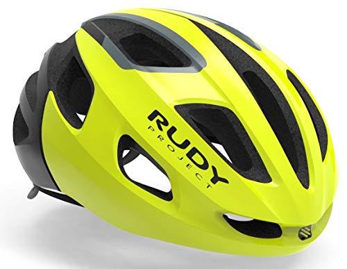 Rudy Project Strym Helm Yellow Fluo Shiny Kopfumfang L | 59-61cm 2021 Fahrradhelm