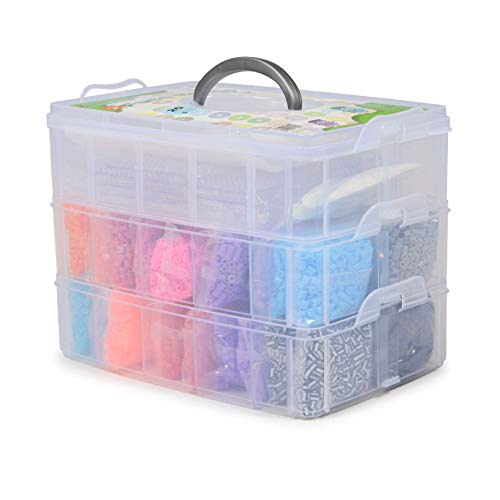 Milliard Fuse Bead Kit / 18,000 Assorted Beads Plus Accessories and Carry Case / Compatible with Perler Beads and Peg Boards