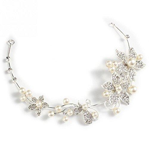 Pinzas para el cabello Accesorios para el cabello de boda Pinzas para el cabello Diamante de imitación romántico Flor de perlas