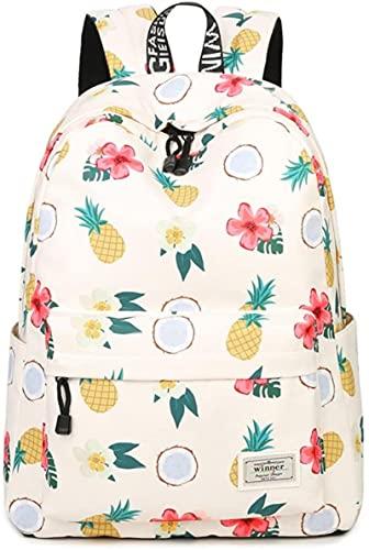 WHXL Mochila linda del niño Daypack Girls College Travel (blanco)