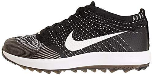 Nike Men's Flyknit Racer G Golf Shoes (Black/White, 11 D(M) US)
