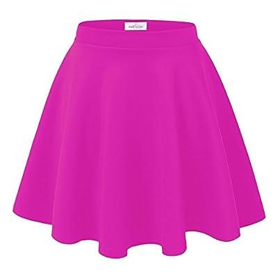 Red Hanger Women's Versatile Basic Stretchy A-Line Flared Skater Skirt - Made in USA