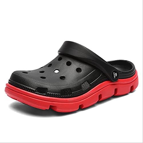 SOTUISA Men Sandals Crocks Summer Hole Shoes Crok Rubber Clogs Girl Pu Lovers Garden Shoes Blue Crocse Beach Flat Sandals Slippers