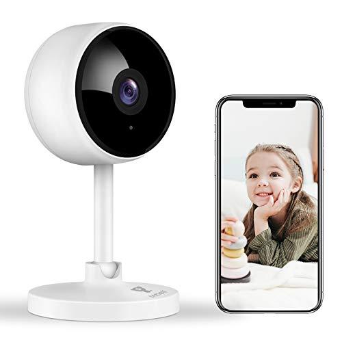 Überwachungskamera, Littlelf 1080P HD WlAN IP Kamera, WiFi Kamera mit 2-Wege Audio Baby Monitor, Bewegungserkennung, Innen Kamera für Baby, Nachtsicht mit Alexa