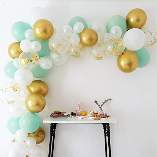 Sage Green Balloon Arch Kit | Green Balloon Arch | Pale Green Balloon Garland | Green Balloons | Green Birthday Decorations| Green Party Decorations | Green And Gold Balloons
