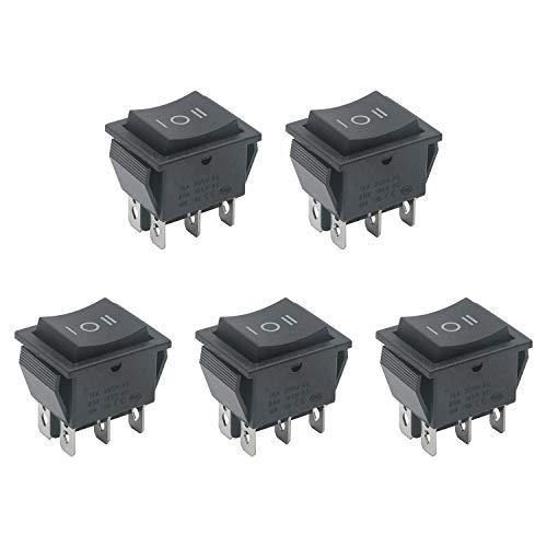 Pxyelec Interruptor basculante de polaridad de motor de 16 A CC, paquete de 5