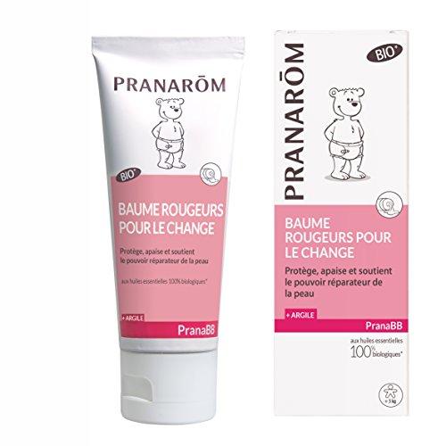 Pranarôm - Pranabb - Baume pour le Change Et Rougeurs - Protége Et Apaiser Les Fesses de Bébé - Bio Eco - 75 ml