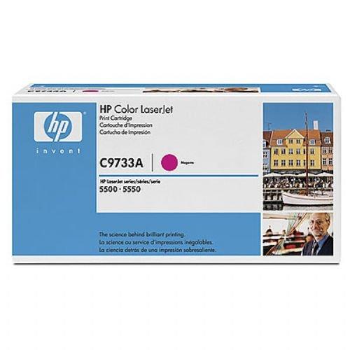 103772: HP Color LaserJet Smart cartucho de impresión magenta (de papel 12000) (C9733A)