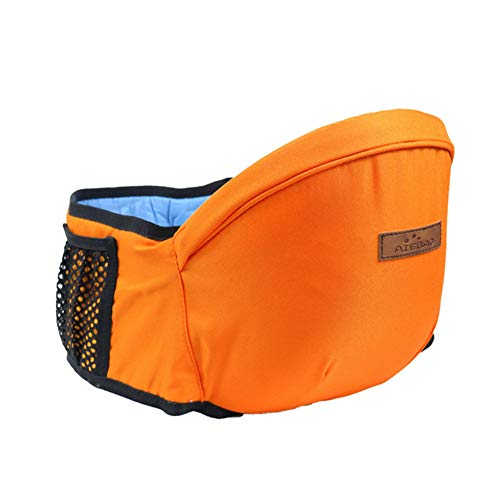 Portabebes Asiento, Sunzit Portador de bebé ergonómico de Hipseat Asiento del Taburete de la Cintura para llevar a niños Pequeños del Bebé - Naranja