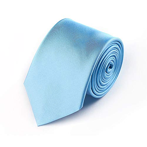 WUNDEPYTIE Krawatte Herrenkleid Business Reine Seide Professionelle Feine Bambusblätter Bestickte Krawatte, Himmelblau