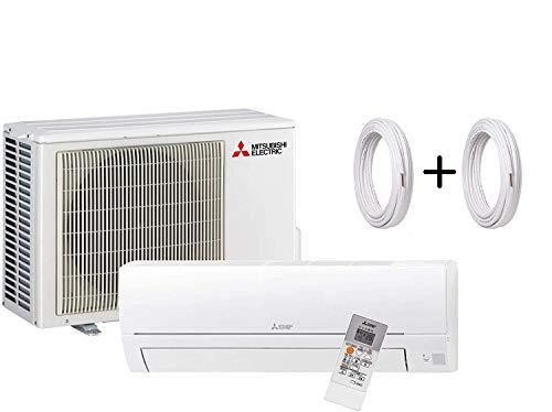 """Mitsubishi Climatiseur DC Inverter Monosplit R32 Télécommande MSZ-HR25VF 9000 BTU + Tuyaux cuivre Couple 1/4"""" + 3/8"""" (7 mètres (7 + 7)"""
