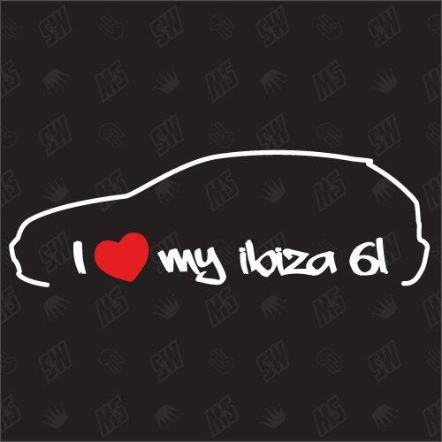 Ik hou van mijn stoel Ibiza 6L - Sticker jaar van fabricage 02-08